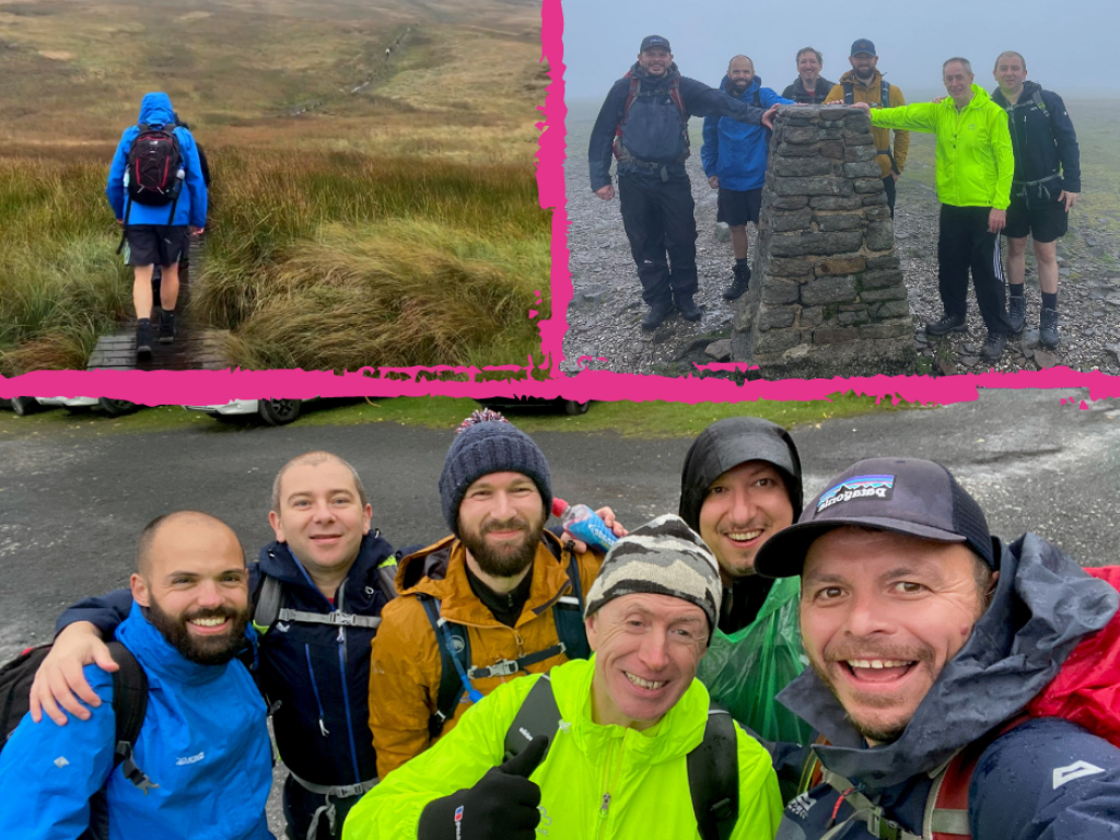 6 of our staff have raised over £1,000 by completed the Yorkshire 3 Peaks Challenge