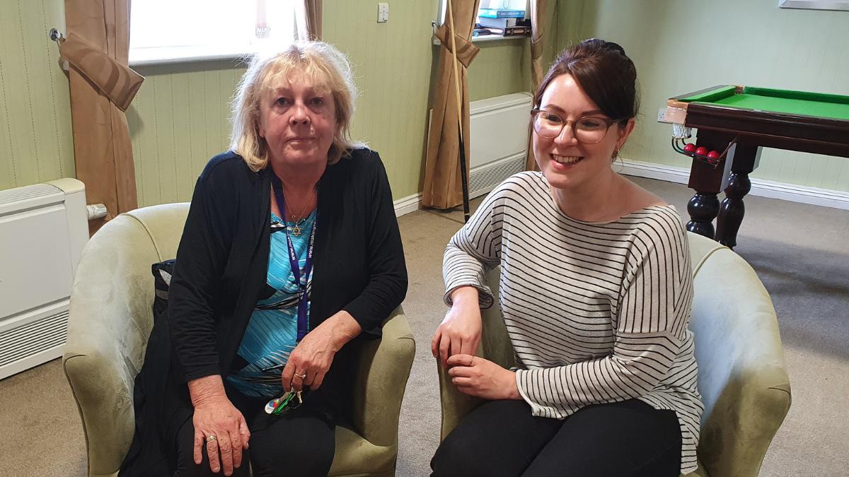 Susan O Sullivan Team Leader and Sophie Ogden Dementia Advisor